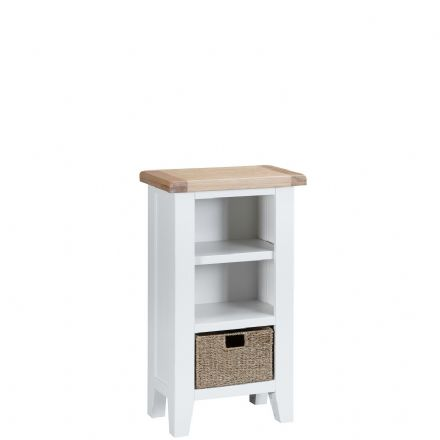 Toulouse White Small Narrow Bookcase